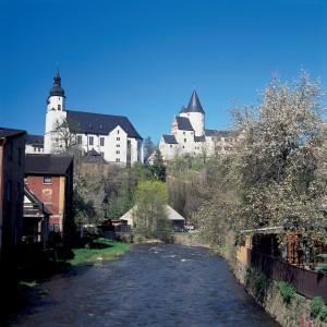 D-Erzgebirge-Kirche Sankt_Georgen_und_Schloss_zu_Schwarzenberg