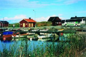 Gotland-Häuschen am Hafen
