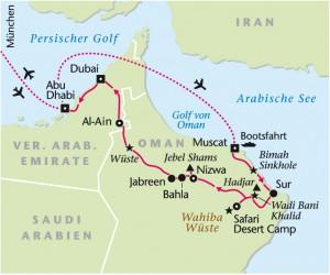 Rundreise Oman - Dubai - Abu Dhabi mit Heideker Reisen