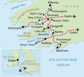 südwest irland karte Irland Wanderstudienreise mit Heideker Reisen   Heideker Reiseblog
