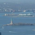 Städtereise New York mit Heideker Reisen - Ausblick vom Empire State Building Richtung Freiheitsstatue